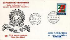 Repubblica Italiana 1968 FDC Chimera Conti Correnti Postali