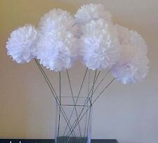 20x 5'' white paper pom pom gift garland wedding party birthday venue decoration