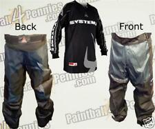 PAINTBALL PRO PANTS  AND JERSEY COMBO  (GRAY) SYSTEM X