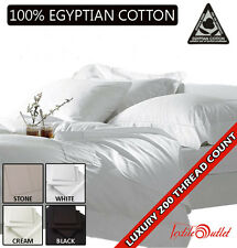 Luxury 100%25 Egyptian Cotton 200 Thread Count Fitted Sheets Single,Double,King
