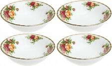 "ROYAL ALBERT OLD COUNTRY ROSES 4 x FRUIT SAUCERS 14cm / 5.5"" - NEW/UNUSED"