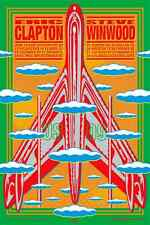 Eric Clapton Steve Winwood Tour POSTER 2009 signed by Artist John Van Hamersveld