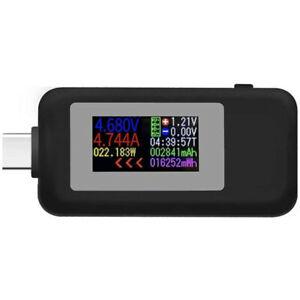 USB Type-C Power Tester Voltage Current Capacity Meter USB-C Multimeter 4-30V 5A