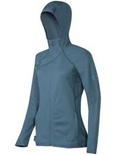 Mammut Fleece Übergangs Jacke Damen Get Away Hooded Jacket Women Blau Grau L