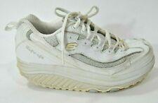 Skechers Shape Ups Womens 6.5 Shoes White Athletic Walking Sneakers Training EUC