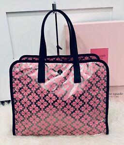 NWT Kate Spade Morley Silver/Pink Large Tote Bag Weekender Bag Shoulder Bag Love