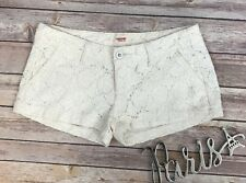Mossimo Supply Co Juniors Low Rise Floral Lace Shorts Size 3