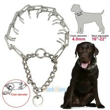 "Dog Training Choke Chain Collar Adjustable Metal Steel Prong Pinch 4.0m 16""-22"""