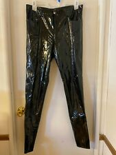 Stretch Black Shiny Pvc Skinny Unisex Jeans Pants