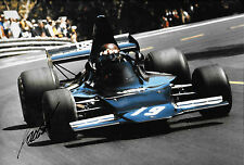 Jackie Oliver SIGNED 12x8  UOP-Shadow DN1 ,Spanish GP  Barcelona 1973
