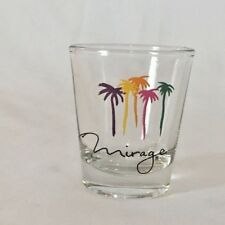 MIRAGE  multi-colored palm trees shot glass