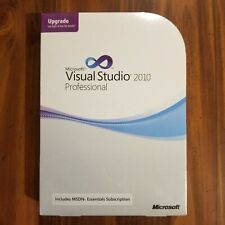 NEW SEALED Microsoft Visual Studio Professional 2010 Full Ver w' Upgrade BONUS