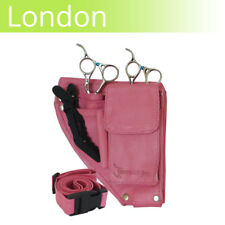 LEATHER scissor pouch LONDON Pink