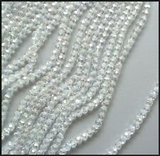 6mm Round AB CLEAR x 100 A-Grade Crystal Beads faceted for Suncatcher Jewelry