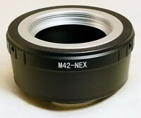 M42  screw in type LENS to Sony NEX E Camera Mount adapter Ring ILCE a6100 a5300