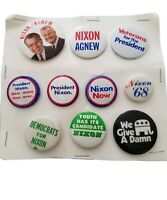 10 President Richard Nixon Spiro Agnew Political Campaign Pin Pinback Button Lot