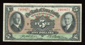 1935 Bank of Nova Scotia $5 - CH 550-36-02 - S/N: 2469971