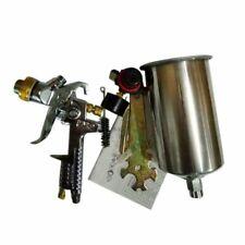 New 13mm Cup Hvlp Gravity Feed Air Spray Gun Auto Paint Clean Tool Kit Set