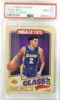 2017 Lonzo Ball Panini Hoops Class of 2017 Rookie rc PSA 10 Gem Mint Rare Hot rc