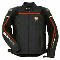 Ducati Motorbike Racing Sports Jacket for Motorcyclist Genuine Leather