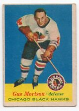 1X GUS MORTSON 1957 58 Topps #25 EX+ CHICAGO BLACK HAWKS 57 58