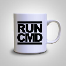 RUN CMD Funny IT Computers Engineer Geek Nerd Mug Tea Gift Coffee Cup