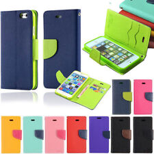 For Apple iPhone 4S 5S 5C 6 6S Plus Wallet Flip Leather Phone Case Card Cover