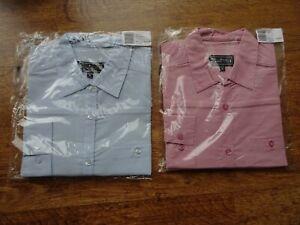 2  x NEW: Rohan Ladies Long Sleeve Travel Shirts - Small - Bust 33 - 35
