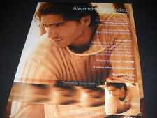 Alejandro Fernandez nominated for multi awards 2000 Promo Poster Ad mint cond
