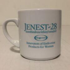 Jenest 28 Contraceptive Birth Control Drug Mug Pharmaceutical Rep Norethindrone