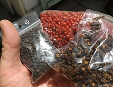 Lot3 EPICES  de Madagascar 25gr Poivre noir / 25gr poivre rouge / 25gr girofles