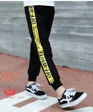OFF WHITE PANTS 8901 (BLACK-YELLOW)