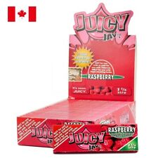 Juicy Jay's 1 1/4 Raspberry Rolling Paper - 1 Box 24 Pks (32 Papers/Pk)