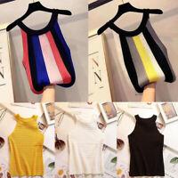 Chic Women Knit Summer Sleeveless Slim Basic T Shirt Blouse Casual Tank Top Vest