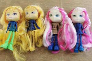 Lot of 4 Lanard Catwalk Kitties Doll Pettie Dolls BIN