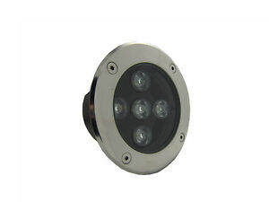 10 x 5W DC12v LED Inground Buried Light Garden Underground Lamp Pure White
