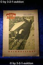 """Motor und Sport 35/37 Pössneck 29.8.1937 Heft 35 Austin """"Sieben"""""""