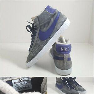 Nike Blazer Trainers Mid Suede Blue Grey White Woman's 2012 UK Size UK 7.5
