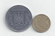 2 COINS from UKRAINE - 5 & 10 KOPIYOK (BOTH 2005)