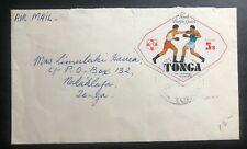 1960s Vavau Tonga Toga Airmail cover To Nukualofa South Pacific Games Stamp