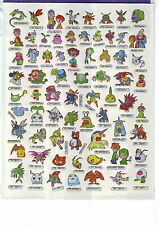 A4 Bogen Manga-Sticker mit 69 verschiedenen Stickern - nummeriert 1 - 69