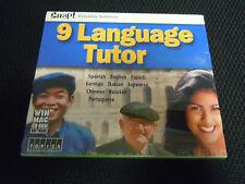 Snap 9 Language Tutor Language Software Spanish English French German CD ROM