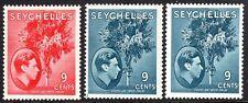 Seychelles1938 part set multi-script chalk paper mint SG138/138a/138ad (3)