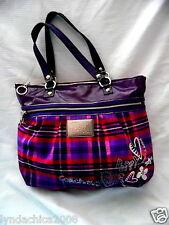 Coach Poppy Tartan Plaid Tote Bag #15886 ***Limited Edition***