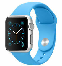 Original New Apple Watch 38mm Silver Aluminum Case Blue Sport Band