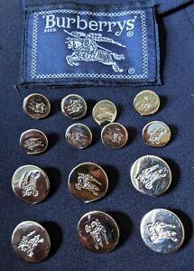 Burberrys Prorsum Knight Coat of Arms RARE 14 Silver Blazer Suit Jacket Buttons