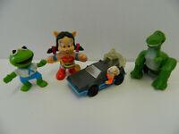 Lot of 4 McDonalds Happy Meal Toys - Combo Pack - Wonder Pig, Doc & DeLorean