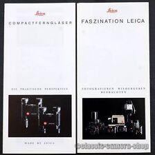 2x LEITZ Fotocamera & binocolo la pubblicità LEICA m6 r5 r6 opuscolo obiettiva (x2617