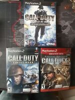 PS2 Call of Duty Games LOT of 3 -  Call of Duty 3, Finest Hour, World at War