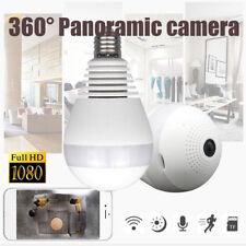 360degree Panoramic 1080P Hidden IR Camera Light Bulb Wifi FishEye CCTV Security